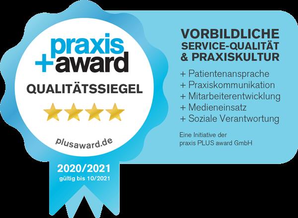 Praxis Award Qualitätssiegel